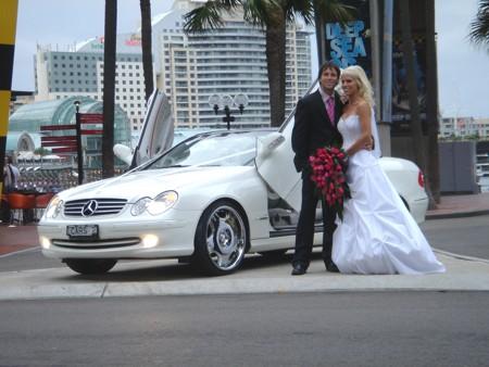 Mercedes wedding limousine Sydney