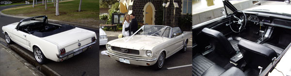 Convertible Mustang Hire Car & Wedding Cars in Melbourne